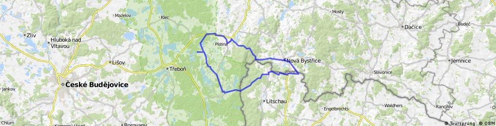 Nová Bystřice - Hirschenschlag - Haugschlag - Chlum - Stráž nad Nežárkou - Peršlág - Nová Bystřice