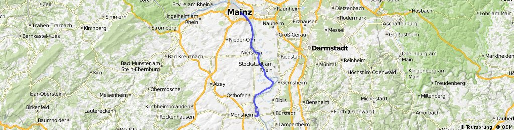 2014 September Rhein-Radweg: 4 Worms - Mainz
