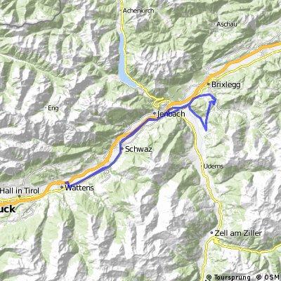 Wattens-Zillertal-Alpachtal-retour