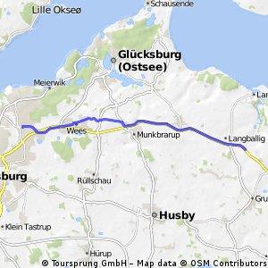 Flensburg Mürwik nach Unewatt Landmarkt