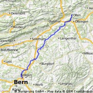 Bern Wankdorf - Ersigen - Olten