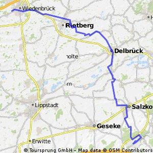 Wiedenbrück nach Airport PB