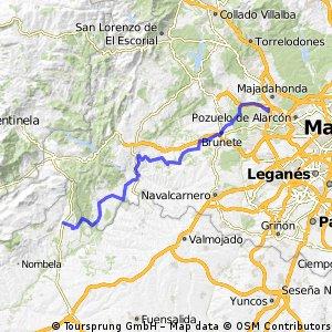 Majadahonda - Brunete - Villamantilla - Aldea del Fresno - Villa del Prado - Almorox