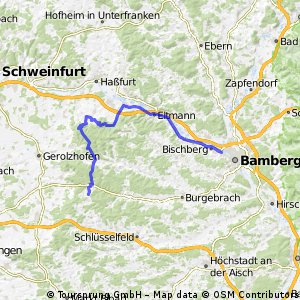 Steigerwald Panoramaweg Bischberg nach Grossgressingen