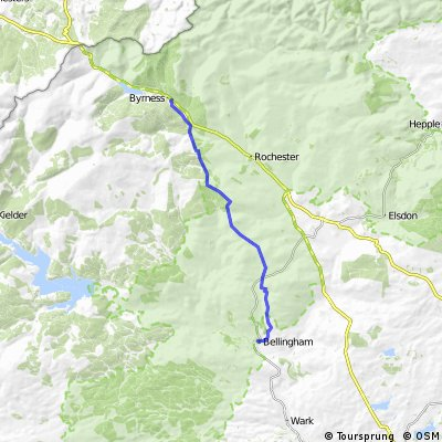 St Wilfrid's Way - Bellingham to  Byrness