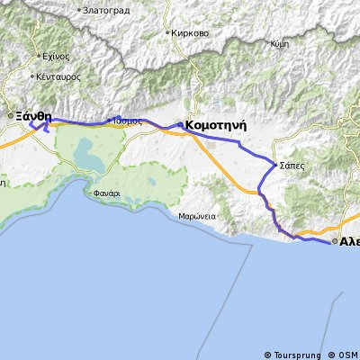 2014_09 Grieschenland, Xanthi nach Alexandroupolis