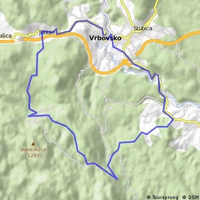 Vrbovsko - Bijela Kosa - Gomirje - Vrbovsko