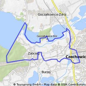 Pętla długa w okolicach zapory Goczałkowickiej