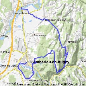 20.Pont d'Ain --> Ambérieu en Bugey crono