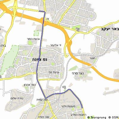 מסלול ריצה לאורך כביש 412