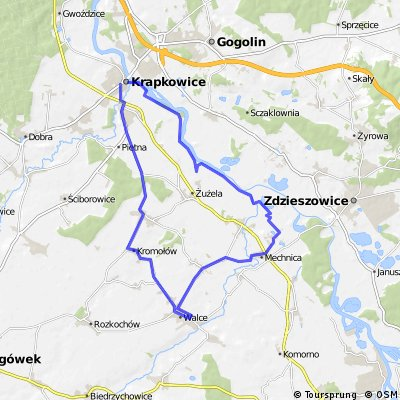 Wałami z Krapkowic do Mechnicy i Walec