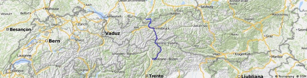 Bolzano - Innsbruck - Garmisch - Partenkirchen