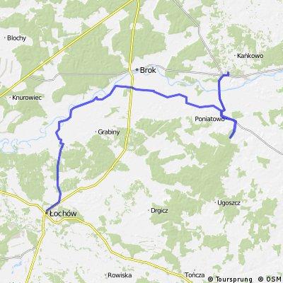 Małkinia - Treblinka - Wilczogęby - Brzuza - Łochów