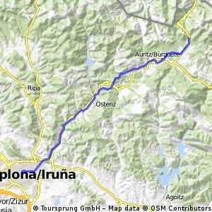 Camino de Santiago frances Etapa 1: Roncesvalles - Pamplona