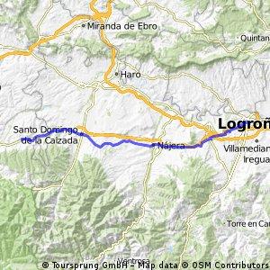 Camino de Santiago frances Etapa 4: Logroño - Villamayor del Rio