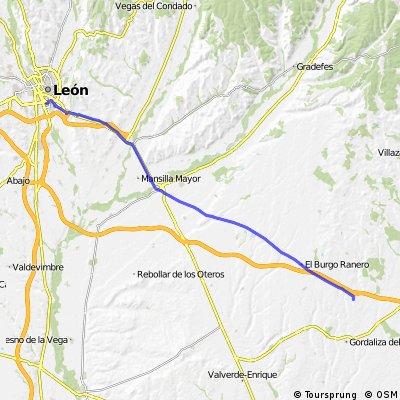 Camino de Santiago frances Etapa 8: Bercianos del Real Camino - Leon