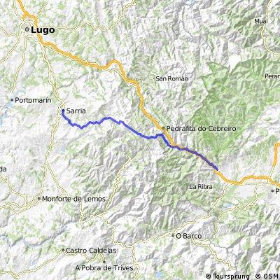 Camino de Santiago frances Etapa 11: Villafranca del Bierzo - Sarria