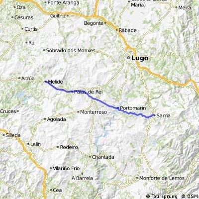 Camino de Santiago frances Etapa 12: Sarria - Melide