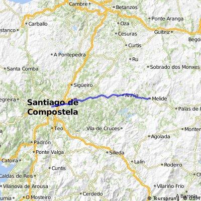 Camino de Santiago frances Etapa 13: Melide - Santiago de Compostela