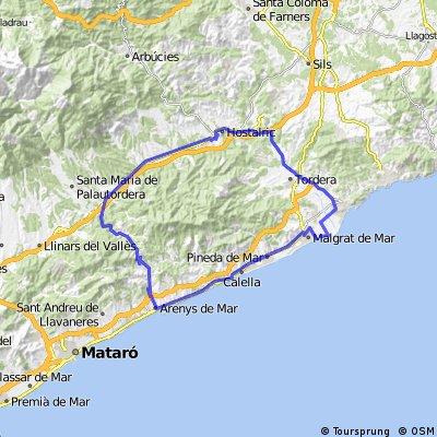 Premia De Mar Mapa.Cycling Routes And Bike Maps In And Around Malgrat De Mar