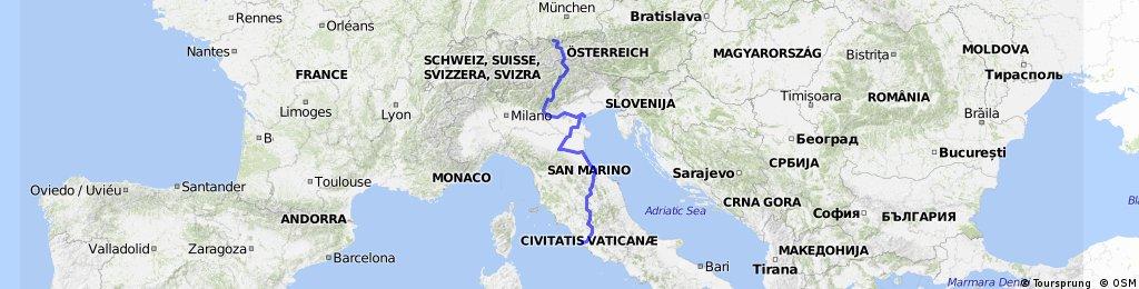 Rzym - Wenecja -  Garmisch-Partenkirchen