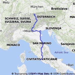 Projekt_Rzym - Wenecja - jez. Garda - Garmisch-Partenkirchen (część południowa już nieaktualna)