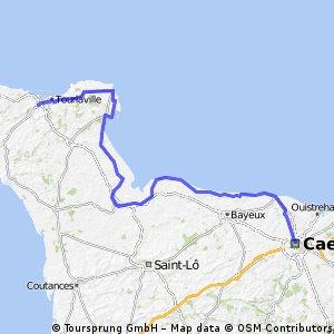 1.Cherbourg-Octeville >> Caen