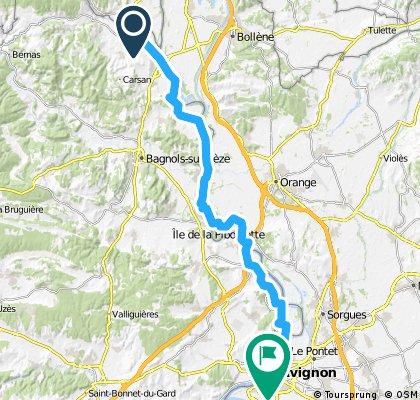 19) St Just d'Ardèche - Avignon