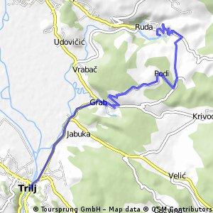 +Triljska biciklijada - duža ruta (malo makadama od sela Podi)
