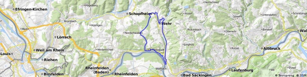 Rundweg Wehr - Hasel - Dossenbach - Wallbach