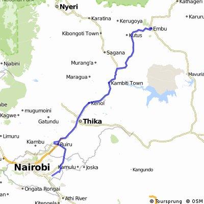 Reise 5 Etappe 1 Nairobi - Embu