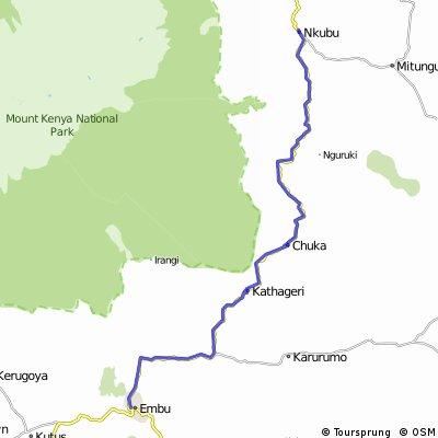 Reise 5 Etappe 2 Embu - Nkubu