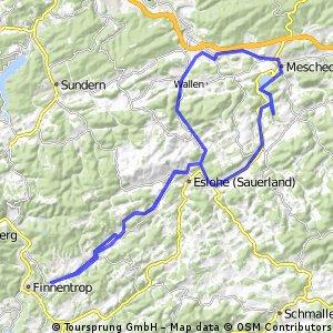Sauerlandradring (Teil) mit Nordschleife
