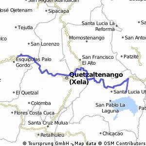 Solola-Quetzaltenango-San Marcos-San Pedro Sacatepequez