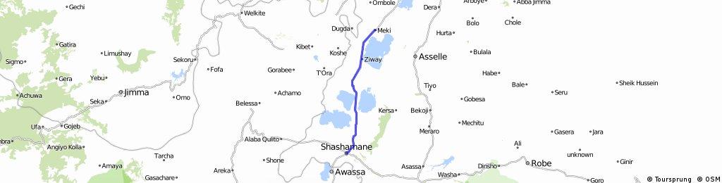 Reise 5 Etappe 18 Ashamane - Meki