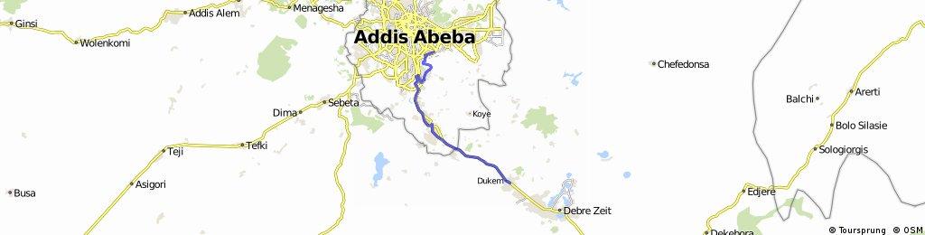 Reise 5 Etappe 20 Dukem - Addis