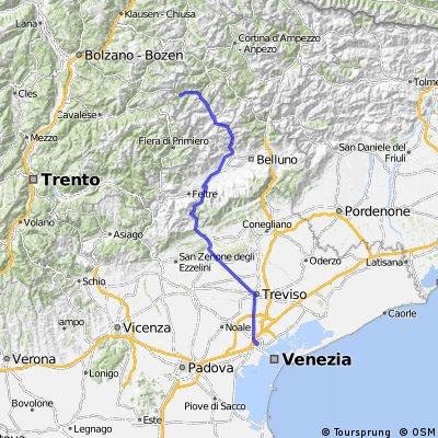 4. Etappe Garmisch - Venedig