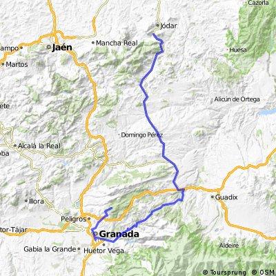 7 ª Eta Jodar . La Alfaguara.Alfacar 134,4 km