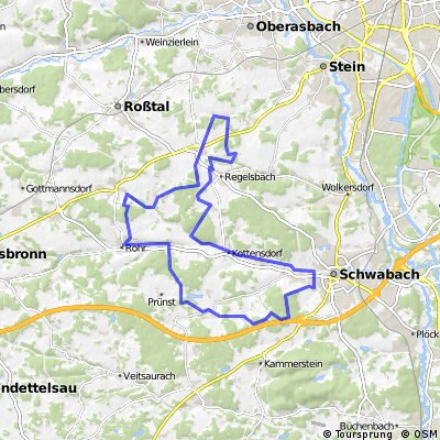 Nordwestlich von Schwabach