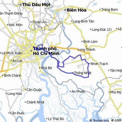 VNM HCMC-Cat Lai-Nhon Trach-Cat Lai-HCMC (92km)