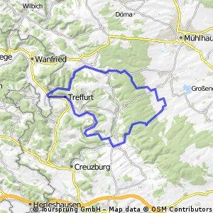 Hainich,Unstrut Werra,Werratal Radweg