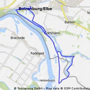 Rundtour an der Elbe in Boizenburg