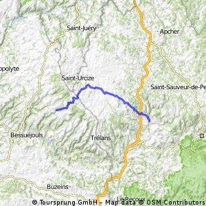 2014 Ride Day 99 - St-Chély-d'Aubrac to Marvejols