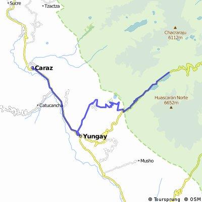 Day 3: Caraz - Laguna Llaganuco