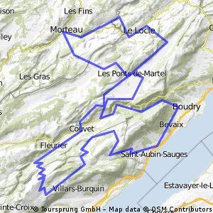 Villers-Chasseron-Gorges de l'Areuse-Villers