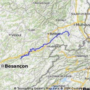 Ziua a 8-a: Pont-les-Moulins - Altkirch