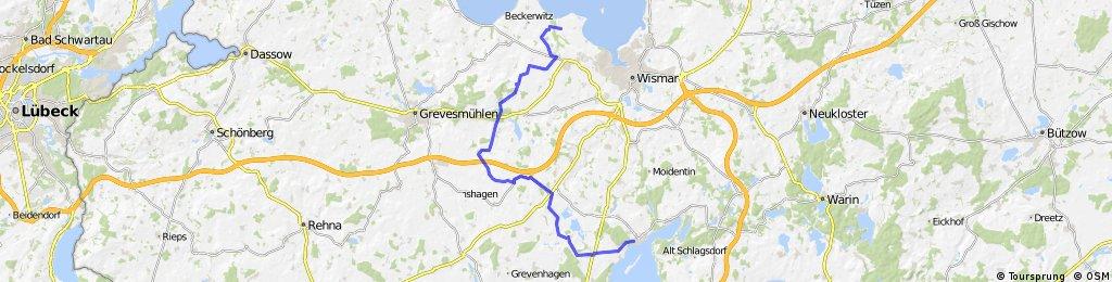 Kulturradweg Schweriner See - Ostseestrand