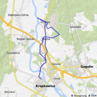 Krapkowice-Malnia-Chorula i powrót