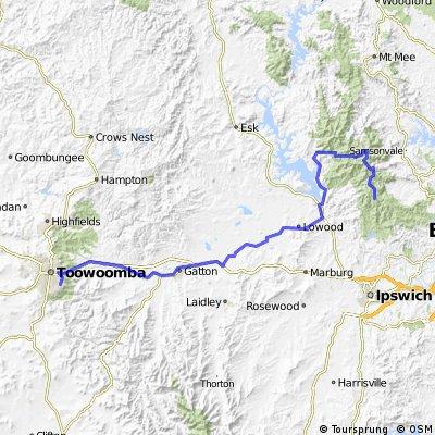 Mt Nebo to Toowoomba