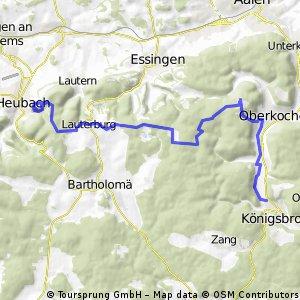 Königsbronn- Tauchenweiler -Rosenstein